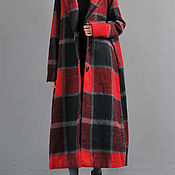 Одежда handmade. Livemaster - original item Coat woolen coat / hooded wool coat / red. Handmade.