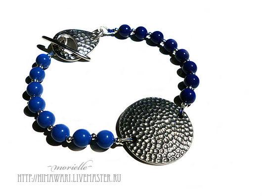 Браслеты ручной работы. Ярмарка Мастеров - ручная работа. Купить браслет Deep Blue. Handmade. Тёмно-синий
