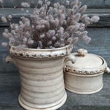 Для дома и интерьера ручной работы. Ярмарка Мастеров - ручная работа Комплект ваза и шкатулка. Handmade.