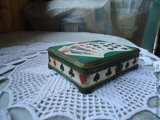 """Шкатулки ручной работы. Ярмарка Мастеров - ручная работа. Купить шкатулка""""Карты"""". Handmade. Тёмно-зелёный, шкатулка ручной работы, лак"""