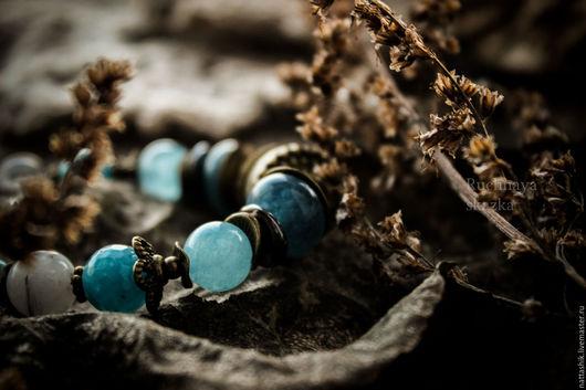 Браслеты ручной работы. Ярмарка Мастеров - ручная работа. Купить Волна - браслет. Handmade. Голубой, лесная тема, нежный, волна