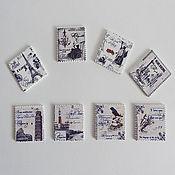 Пуговицы-открытки в винтажном стиле