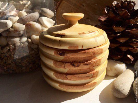 Кухня ручной работы. Ярмарка Мастеров - ручная работа. Купить Бочонок для меда (мини). Handmade. Бежевый, Деревянная посуда