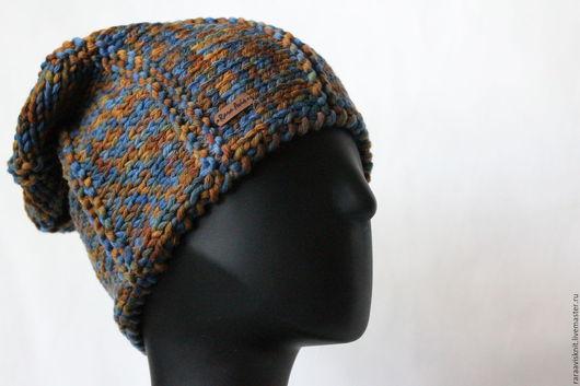 Шапки ручной работы. Ярмарка Мастеров - ручная работа. Купить Вязаная шапка бини, женская вязаная шапка Имбирь. Handmade.