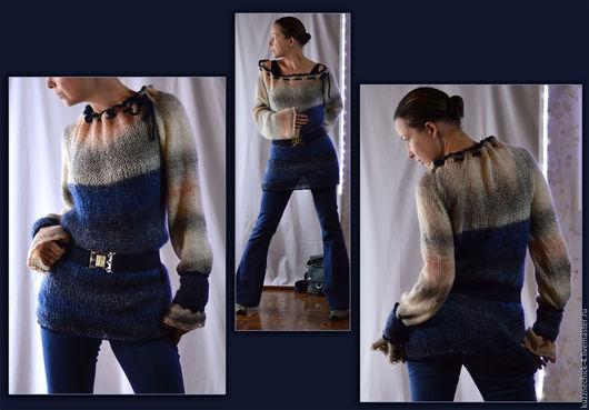 Кофты и свитера ручной работы. Ярмарка Мастеров - ручная работа. Купить Джемпер Оверсайз. Handmade. Комбинированный, мохер