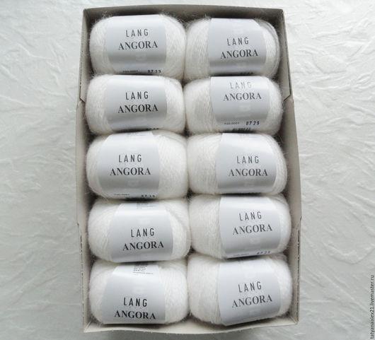 Вязание ручной работы. Ярмарка Мастеров - ручная работа. Купить Пряжа Lang Yarns Angora 0001. Handmade. Пряжа в мотках