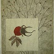 """Картины и панно ручной работы. Ярмарка Мастеров - ручная работа """"В ноябре: шиповник"""". Handmade."""