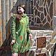 """Платья ручной работы. Заказать Платье валяное  """"Зеленое золото"""".. Мастерская 'Nataly'.. Ярмарка Мастеров. Платье из шерсти, авторское платье"""