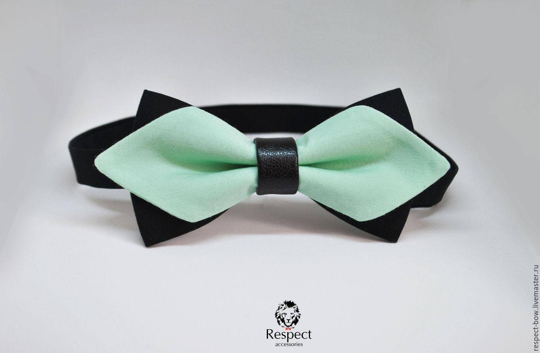 Tie mint Mod / bow tie, mint wedding, Ties, Moscow,  Фото №1