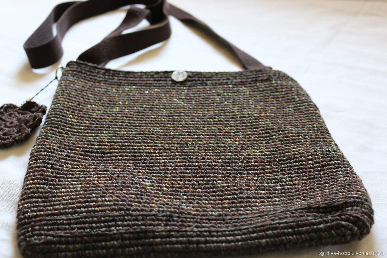 1980bbf7fea0 ... Женские сумки ручной работы. Вязаная сумка сумочка 'Милитари -гламур' с  цветком.