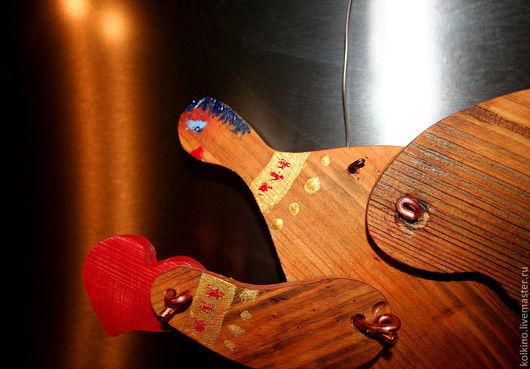 Сказочные персонажи ручной работы. Ярмарка Мастеров - ручная работа. Купить Ангел с сердечком. Handmade. Желтый, состаренная сосна