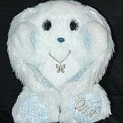 Куклы и игрушки ручной работы. Ярмарка Мастеров - ручная работа заяц вязанный именной. Handmade.