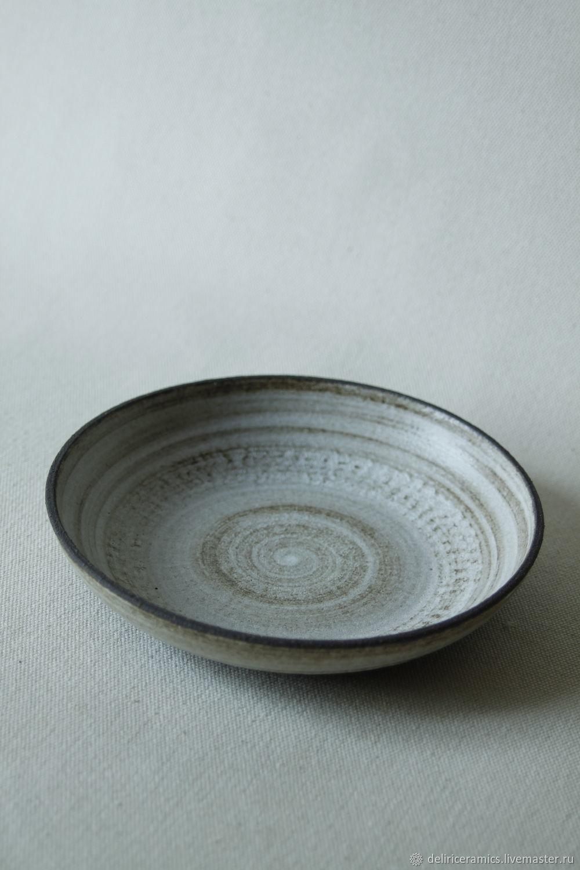 Тарелка из каменной массы,  серия Brownie, 24.5 х 5 см, Тарелки, Екатеринбург,  Фото №1