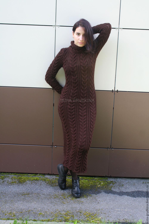 Woolen dress-Maxi 'Chocolate', Dresses, Lomonosov,  Фото №1