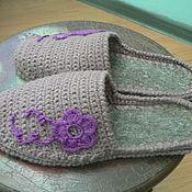 Обувь ручной работы. Ярмарка Мастеров - ручная работа домашние тапочки. Handmade.