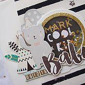 Канцелярские товары ручной работы. Ярмарка Мастеров - ручная работа Альбом на первый год Cool kid. Handmade.