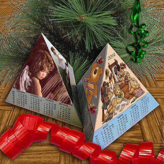 Календари ручной работы. Ярмарка Мастеров - ручная работа. Купить Календарь-пирамидка.. Handmade. Новый Год, сюрприз