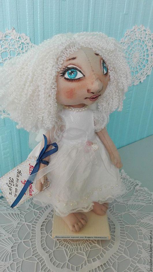 Коллекционные куклы ручной работы. Ярмарка Мастеров - ручная работа. Купить Ангел. Текстильная кукла.. Handmade. Белый, текстильная игрушка