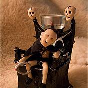 Куклы и игрушки ручной работы. Ярмарка Мастеров - ручная работа Подсвечник-миниатюра «Падший король». Handmade.
