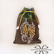 Для дома и интерьера handmade. Livemaster - original item Linen bag with embroidery. Handmade.