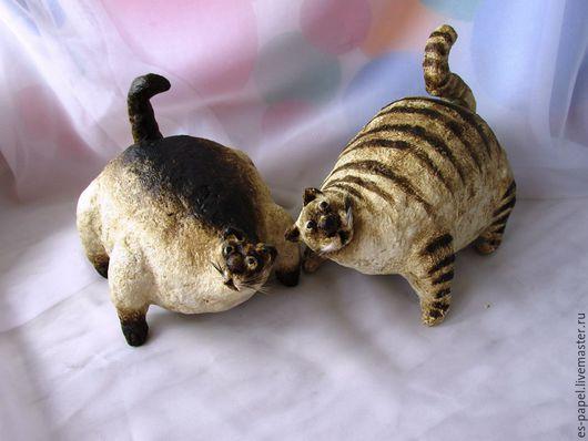 Игрушки животные, ручной работы. Ярмарка Мастеров - ручная работа. Купить Коты-толстуны. Handmade. Кот, кошка, папье-маше