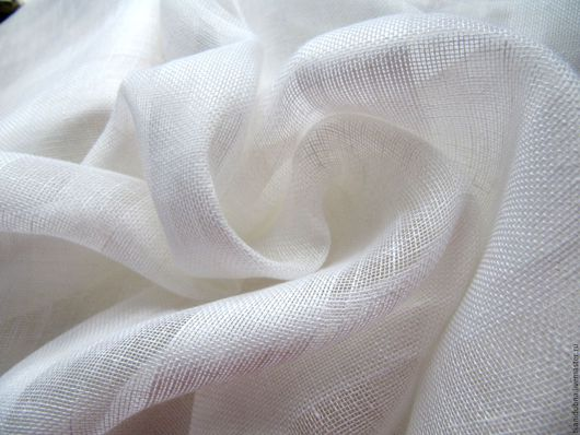 """Шитье ручной работы. Ярмарка Мастеров - ручная работа. Купить Ткань декоративная  """"Лен"""". Handmade. Белый, шторы для кухни, ткань"""
