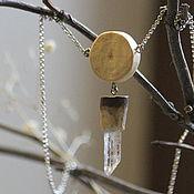 """Украшения ручной работы. Ярмарка Мастеров - ручная работа Кулон """"Солнце леса"""" с кристаллом горного хрусталя. Handmade."""