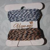Материалы для творчества ручной работы. Ярмарка Мастеров - ручная работа Трёхцветный шнур, 20 метров. Handmade.