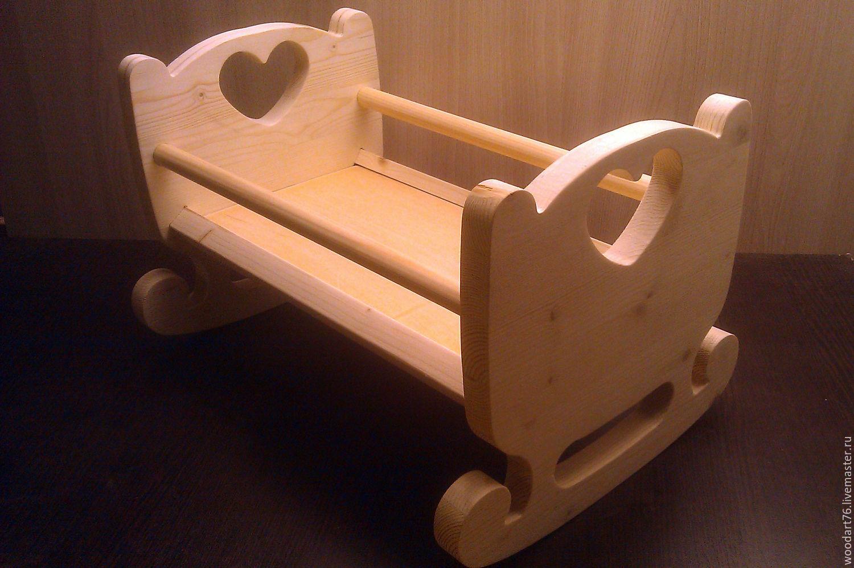 Сделать деревянную кроватку для кукол своими руками