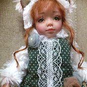 Куклы и игрушки ручной работы. Ярмарка Мастеров - ручная работа Тедди-долл кошка. Handmade.