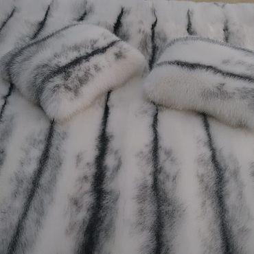 Текстиль ручной работы. Ярмарка Мастеров - ручная работа Покрывало из натурального меха лисы. Handmade.