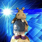 Куклы и игрушки ручной работы. Ярмарка Мастеров - ручная работа Бегемотик Глория.Текстильная игрушка.. Handmade.