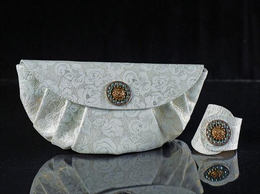 Женские сумки ручной работы. Ярмарка Мастеров - ручная работа. Купить Клатч и браслет от balagura. Handmade.