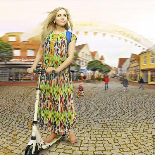 """Платья ручной работы. Ярмарка Мастеров - ручная работа. Купить костюм """"Жизнь в цвете"""" Скидка!!!. Handmade. Комбинированный, восточный стиль"""