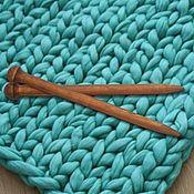 handmade. Livemaster - original item Giant knitting needle for Thick Yarn made of Wood 25mm/300#11. Handmade.