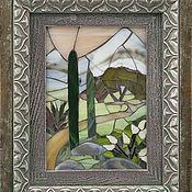 """Картины и панно ручной работы. Ярмарка Мастеров - ручная работа Мозаичная картина """"Кипарисы"""". Handmade."""