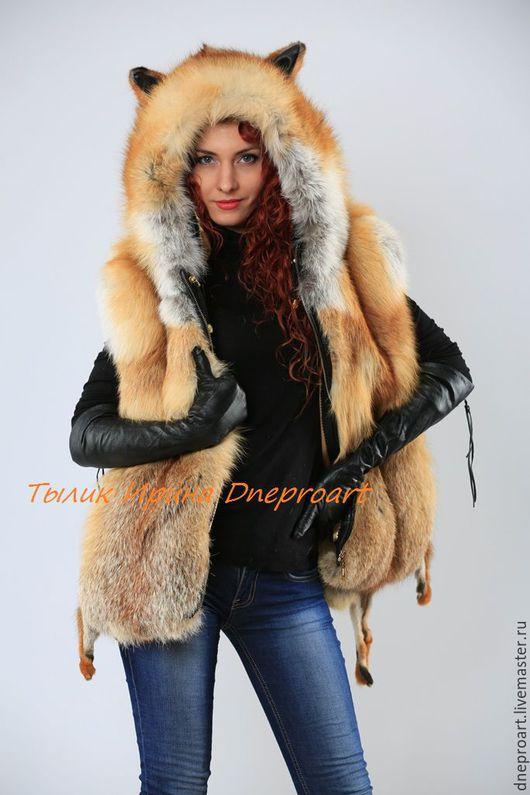 """Верхняя одежда ручной работы. Ярмарка Мастеров - ручная работа. Купить Куртка меховая """"Лисичка"""" с мехом лисы. Handmade. Черный"""