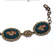 Украшения handmade. Livemaster - original item Embroidered bracelet Artemis. Handmade.