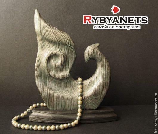 """Статуэтки ручной работы. Ярмарка Мастеров - ручная работа. Купить """"Птица Феникс"""", деревянная скульптура. Handmade. Серебряный, деревянная птица"""