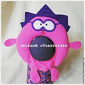 Куклы и игрушки ручной работы. Ярмарка Мастеров - ручная работа Игрушка на объектив смешарик Ёжик. Handmade.