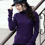 """Одежда ручной работы. Ярмарка Мастеров - ручная работа Кашемировая водолазка """"Night violet"""". Handmade."""