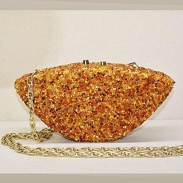 Сумки и аксессуары ручной работы. Ярмарка Мастеров - ручная работа Янтарный клатч из цельного дерева. Handmade.