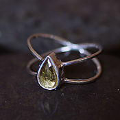 Украшения handmade. Livemaster - original item Ring Infinity with Sunny yellow tourmaline size 17. Handmade.