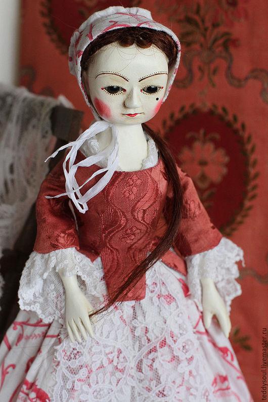 Коллекционные куклы ручной работы. Ярмарка Мастеров - ручная работа. Купить Мэйбл I, кукла из дерева времен Queen Anne. Handmade.
