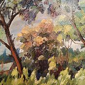 Картины и панно handmade. Livemaster - original item Painting interior: Forest in Abramtsevo. Handmade.