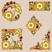 Материалы для творчества handmade. Livemaster - original item Embroidery pattern 10x10cm. formats pes, hus, jef, dst,141 set folk-1. Handmade.