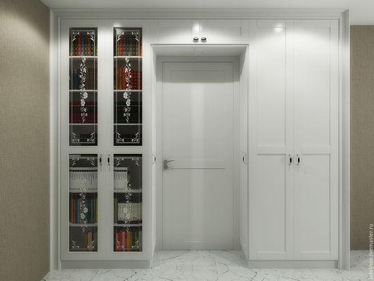 шкаф из дерева, шкаф для одежды и шкаф для книг, антресоль