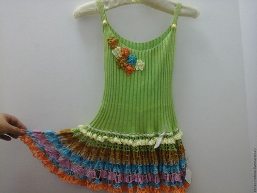 Одежда для девочек, ручной работы. Ярмарка Мастеров - ручная работа. Купить Сарафан детский из хлопка с оборкой ( лето ). Handmade.