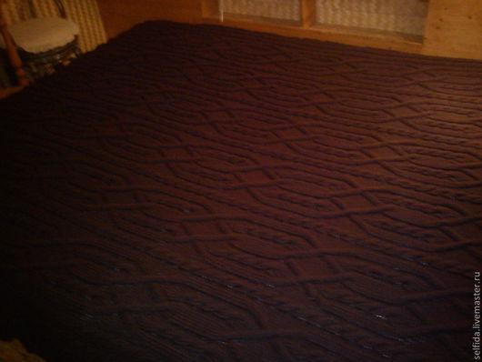 Текстиль, ковры ручной работы. Ярмарка Мастеров - ручная работа. Купить Плед Шоколад. Handmade. Коричневый, вязаный плед