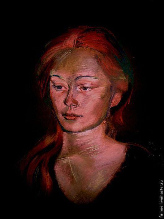 Люди, ручной работы. Ярмарка Мастеров - ручная работа. Купить портрет девушки пастель. Handmade. Портрет на заказ, портрет девушки